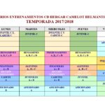 horarios entrenamientos 17-18